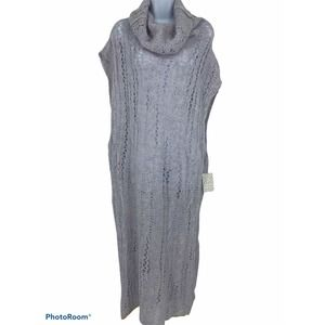 Free People Pirouette Knit Cowl Neck Long Tunic